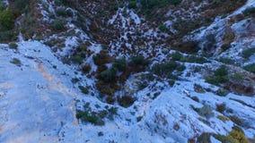 De canion van Verdonkloven in de herfst stock videobeelden
