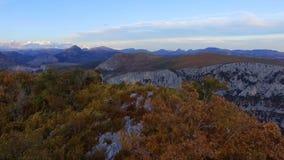 De canion van Verdonkloven in de herfst stock footage