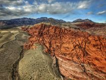 De Canions van de rotsrots - Nevada Royalty-vrije Stock Foto