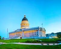 De capitolbouw van de staat van Utah in Salt Lake City Stock Fotografie