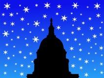 De capitolbouw van de V.S. in de winter Royalty-vrije Stock Afbeeldingen