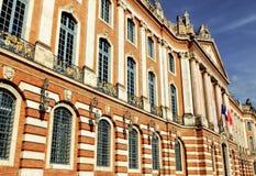 De Capitolebouw, het Stadhuis van Toulouse en theater, Frankrijk stock foto