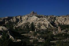 De Cappadocia paisaje Gereme fantástico Imágenes de archivo libres de regalías