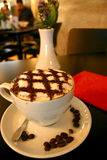 De cappuccino's klokten als vierkanten Royalty-vrije Stock Afbeeldingen