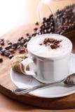 De cappuccino's van de koffie Stock Afbeelding