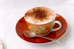 De cappuccino's van de kop Stock Afbeelding