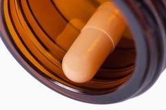 De capsule in de fles Stock Foto