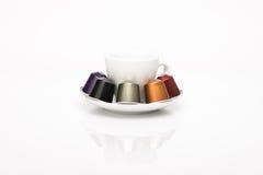De capsule van de koffie Stock Foto