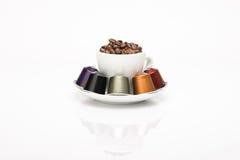 De capsule van de koffie Stock Afbeeldingen