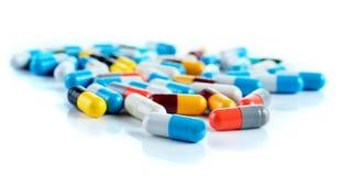 De capsule van tablettenpillen, hoopgeneeskunde Stock Foto's