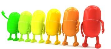 De capsule van vitaminen Stock Foto's