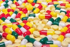 De capsules van de geneeskunde Stock Afbeelding