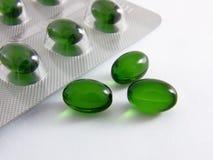 De capsules van de gezondheid met olie royalty-vrije stock fotografie