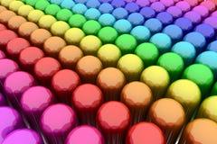 De Capsules van de kleur Stock Foto