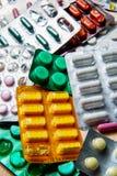 De capsules van tablettenpillen in een Blaar verpakking Royalty-vrije Stock Foto