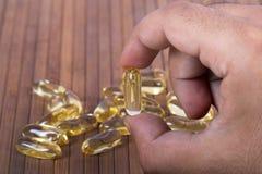 De capsules van de vistraan Stock Foto