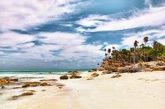 De Caraïbische Baai van de Maan van Turken & Caicos Halve Royalty-vrije Stock Afbeelding