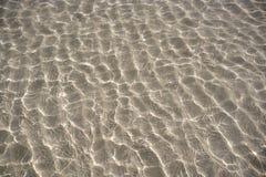 De Caraïbische transparante bezinning van het waterstrand royalty-vrije stock afbeeldingen
