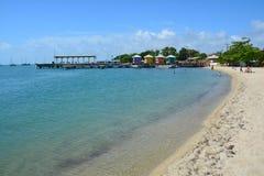 De Caraïbische Zee Belize van het Placenciastrand stock afbeelding