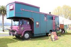De caravan van de de kaartlezer van het zigeunertarot Stock Foto's