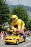 De caravan van de Ronde van Frankrijkpubliciteit royalty-vrije stock foto's