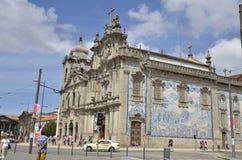 De Carmelitas-kerk en de kerk van Carmo Stock Foto's