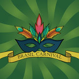 De carnaval achtergrond van Brazilië Royalty-vrije Stock Foto's