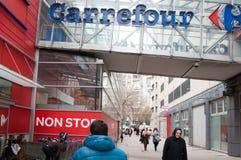 De Carrefour arrêt non Photo libre de droits