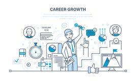De carrièregroei, vooruitgang in onderwijs, zelf-verbetering, aanwinstenervaring, persoonlijke kwaliteiten stock illustratie