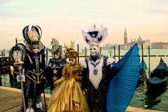 De de carrnival kostuums en maskers van Venetië royalty-vrije stock fotografie