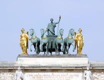 De carrousel van DE triomphe du van de boog royalty-vrije stock foto