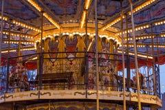 De carrousel van grote kinderen stock afbeelding