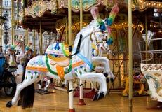 De Carrousel van het paard Stock Afbeeldingen