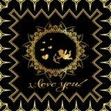 ` De carte de voeux je t'aime ! ` Photos stock