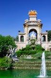 De cascade van de fontein in Barcelona Royalty-vrije Stock Fotografie