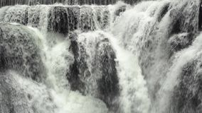 De Cascades van de Shifenwaterval, Pingxi, Nieuw Taipeh, Taiwan Sluit omhoog mening stock footage