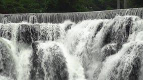 De Cascades van de Shifenwaterval, Pingxi, Nieuw Taipeh, Taiwan Sluit omhoog mening stock videobeelden