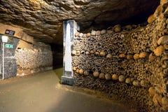 De Catacomben van Parijs Royalty-vrije Stock Afbeeldingen