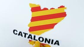 De Catalaanse handen illustreren Catalonië onafhankelijk is stock video