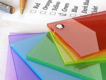 De catalogus van de kleur Stock Foto's
