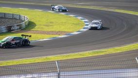De Categorie van GT500 Qualiflying bij 2014 AUTOBACS SUPER GT Round7 BURI Royalty-vrije Stock Foto