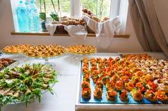 De cateringsdienst voor gebeurtenis stock afbeeldingen