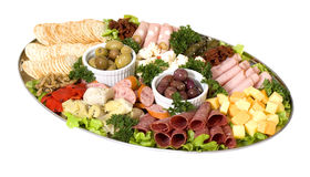 De cateringsschotel van Antipasto Royalty-vrije Stock Fotografie