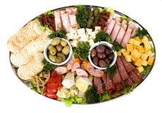 De cateringsschotel van Antipasto Stock Foto's