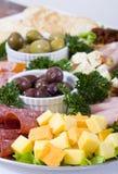 De cateringsschotel van Antipasto Stock Afbeeldingen