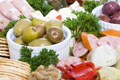 De cateringsschotel van Antipasto Royalty-vrije Stock Foto