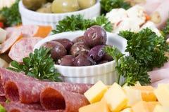 De cateringsschotel van Antipasto Royalty-vrije Stock Afbeelding