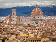 De Cattedrale dina Santa Maria del Fiore - Florence domkyrka Royaltyfria Bilder