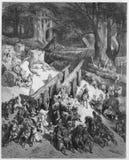 De ceders worden verminderd voor de tempel royalty-vrije stock afbeeldingen