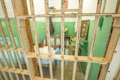 De cel van Alcatrazclarence anglin Stock Afbeeldingen